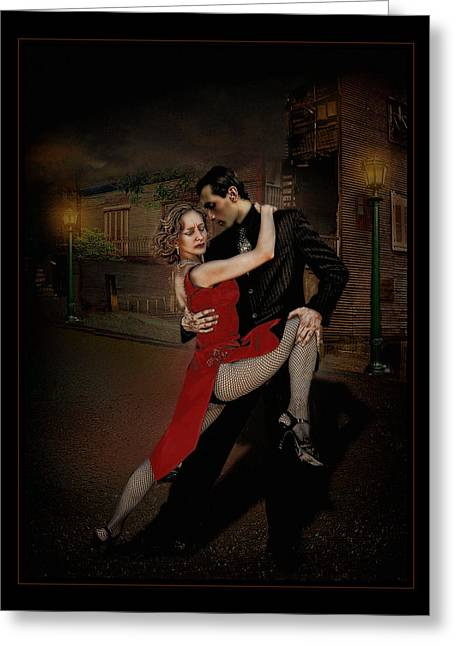 Tangoneando Greeting Card by Raul Villalba