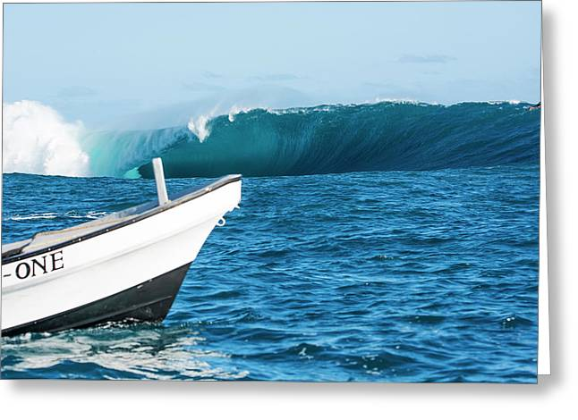 Greeting Card featuring the photograph Tani One Cloudbreak by Brad Scott
