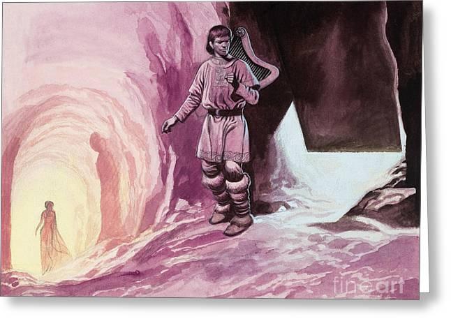 Tannhauser Following Venus Inside The Cavern Greeting Card