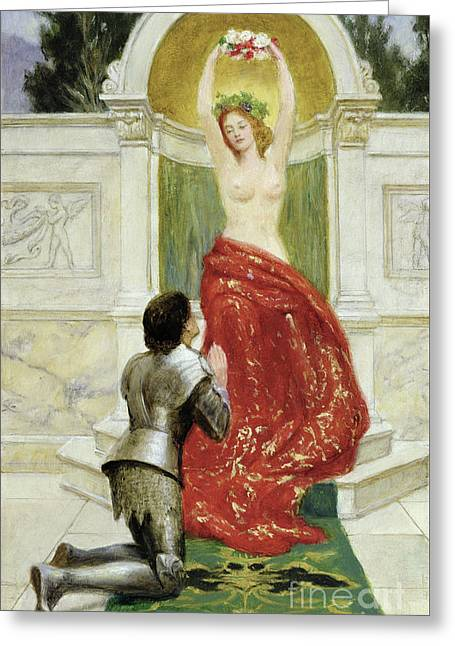 Tannhauser In The Venusburg Greeting Card by John Collier