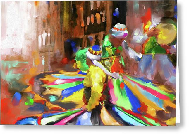 Tanoura Dance 449 I Greeting Card by Mawra Tahreem
