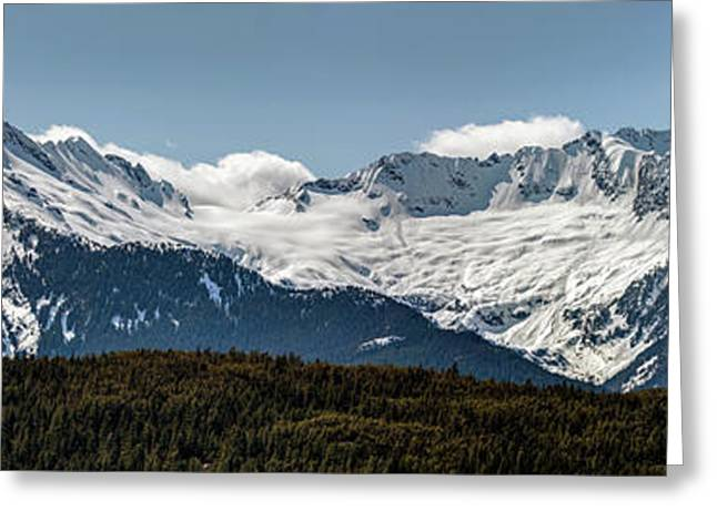 Greeting Card featuring the photograph Tantalus Mountain Range On The Sea To Sky by Pierre Leclerc Photography