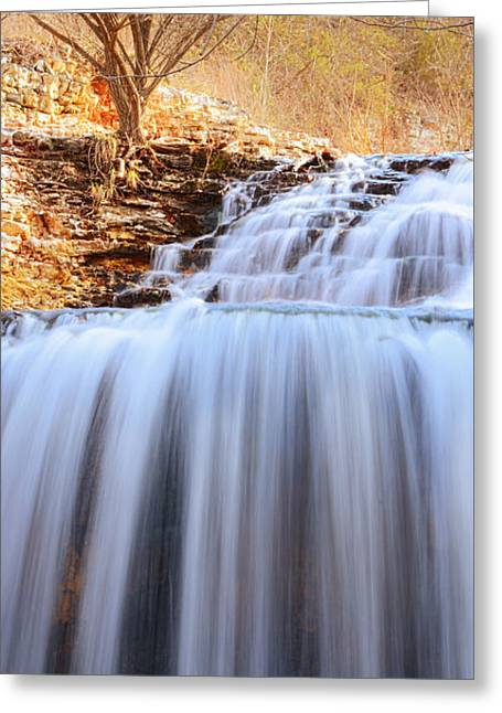 Tanyard Creek Waterfall Arkansas Greeting Card by Lourry Legarde
