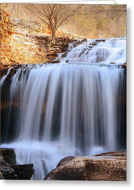 Tanyard Creek Waterfall Bella Vista Arkansas Greeting Card by Lourry Legarde