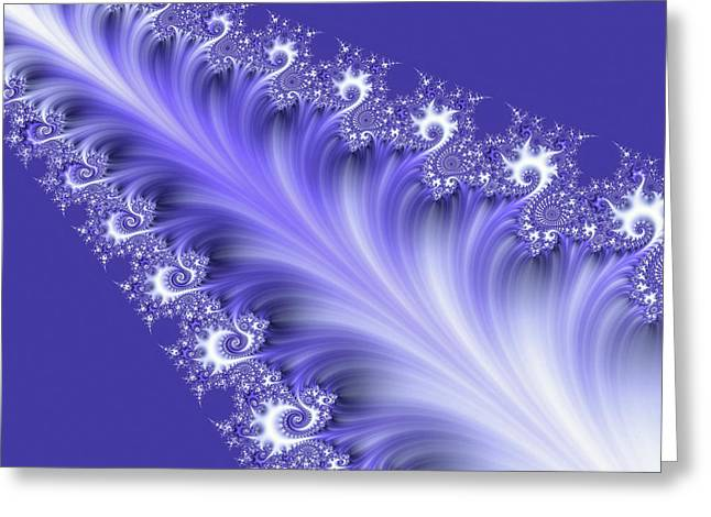 Tanzanite Greeting Card by Susan Maxwell Schmidt