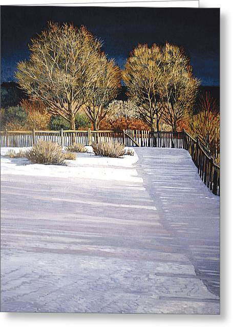 Taos Afternoon Shadows Greeting Card by Donna Clair