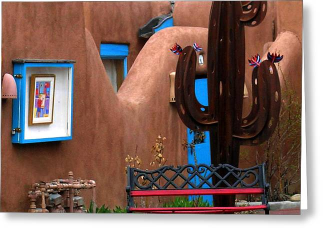 Greeting Card featuring the photograph Taos Cactus by Kathleen Stephens