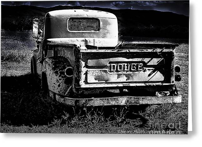 Taos Dodge B-w Greeting Card