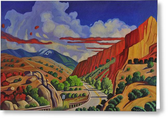 Taos Gorge Journey Greeting Card
