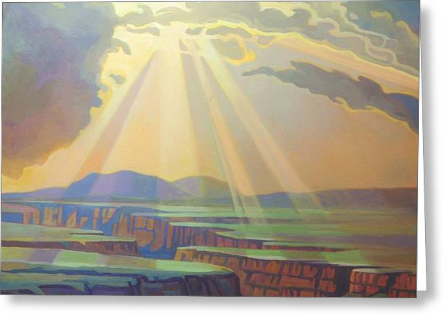 Taos Gorge God Rays Greeting Card