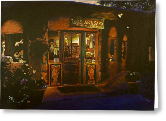 Taos New Mexico Greeting Card by Katherine Puterka