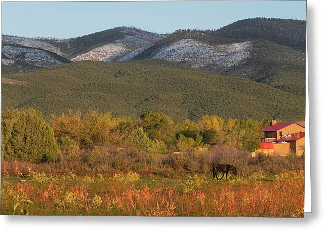 Taos New Mexico Scene Greeting Card