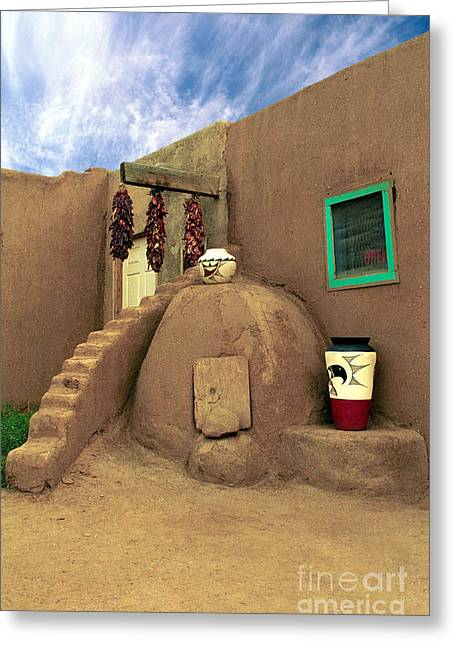 Jerry Mcelroy Greeting Cards - Taos Oven Greeting Card by Jerry McElroy