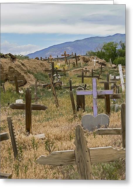 Taos Pueblo Cemetery Greeting Card