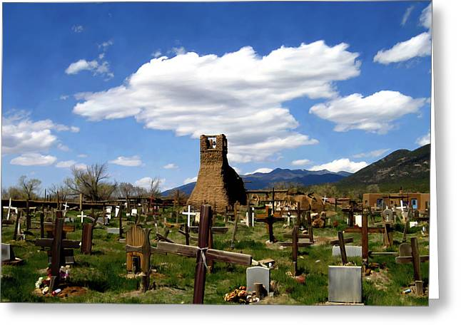 Taos Pueblo Cemetery Greeting Card