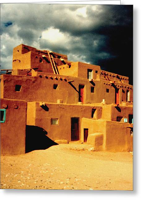 Greeting Card featuring the photograph Taos Pueblo by Kathleen Stephens