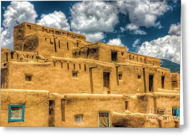 Taos Pueblo, New Mexico 2 Greeting Card