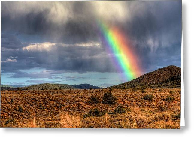 Taos Rainbow Greeting Card