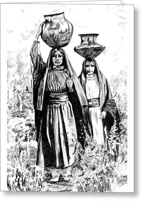 Taos Watergirls Greeting Card