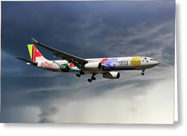 Tap Portugal Airbus A330-343 Greeting Card