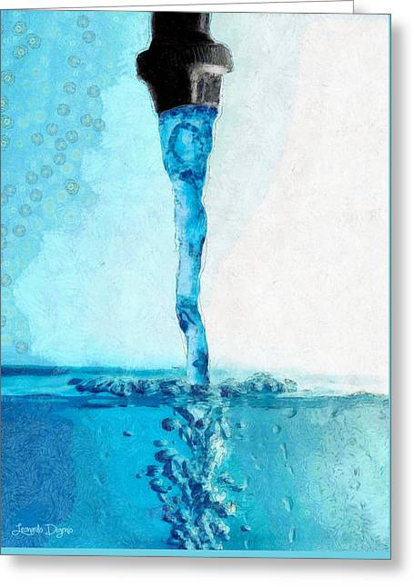 Tap Water B - Da Greeting Card by Leonardo Digenio