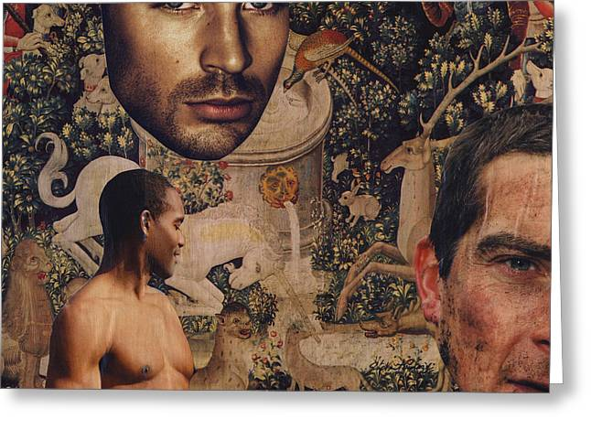Tapestry Men Greeting Card by John Vincent Palozzi