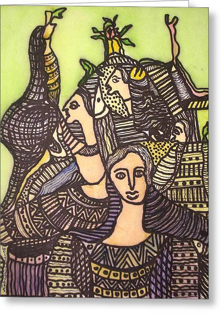 Tapestry Of Life Greeting Card by Nabakishore Chanda
