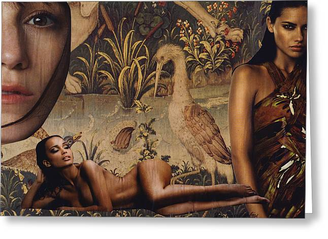 Tapestry Women Greeting Card by John Vincent Palozzi