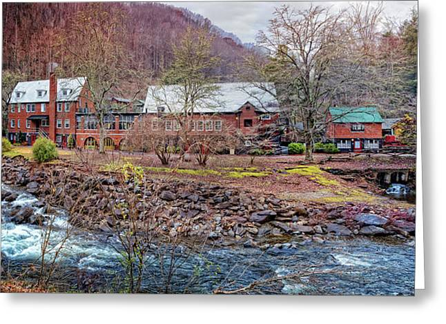 Greeting Card featuring the photograph Tapoco Lodge by Debra and Dave Vanderlaan