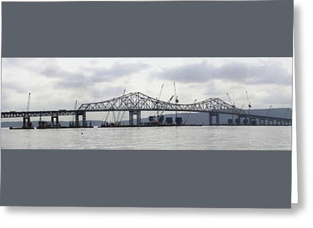 Tappan Zee Bridge From Tarrytown Greeting Card by Suhas Tavkar