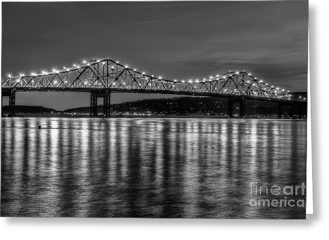 Westchester County Greeting Cards - Tappan Zee Bridge Twilight III Greeting Card by Clarence Holmes