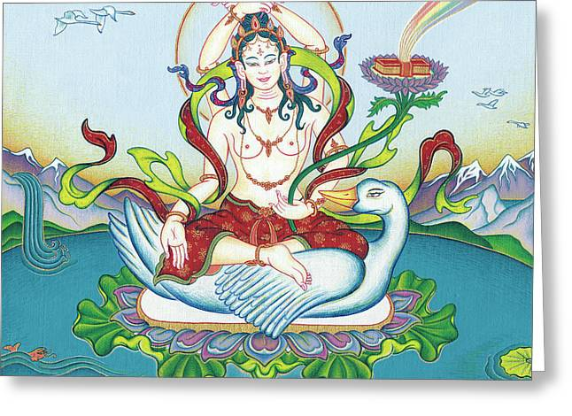 Tara Protecting Against Poisons And Naga-related Diseases Greeting Card