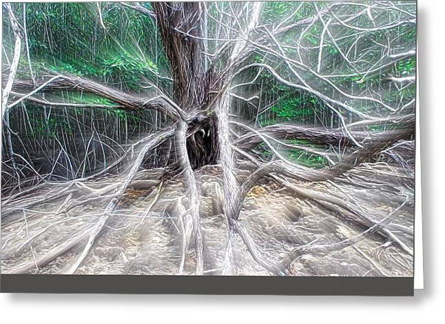 Tarantula Tree Greeting Card by Chrystyne Novack