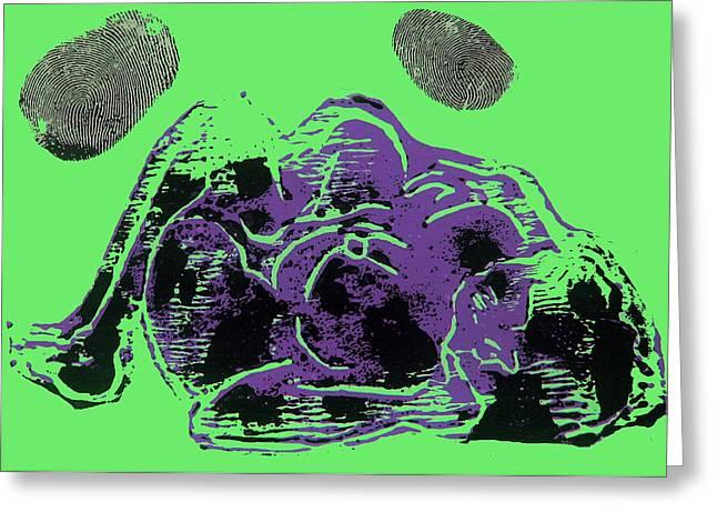 Tarbaby 3 Greeting Card by Adam Kissel
