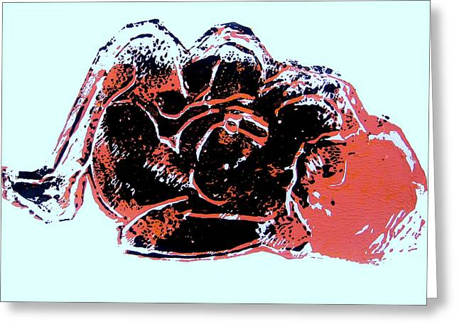 Tarbaby 4 Greeting Card by Adam Kissel