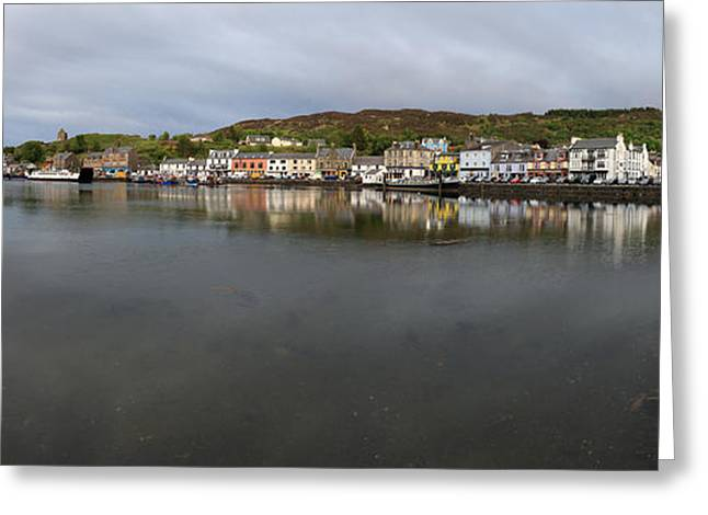 Tarbert Harbour - Panorama Greeting Card
