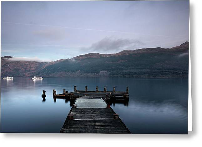 Greeting Card featuring the photograph Tarbet Twilight by Grant Glendinning