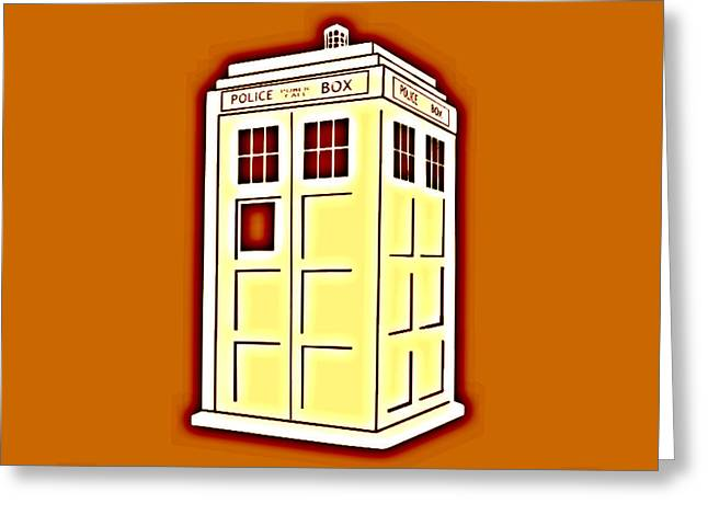 Tardis 6 Greeting Card by Justin Moore