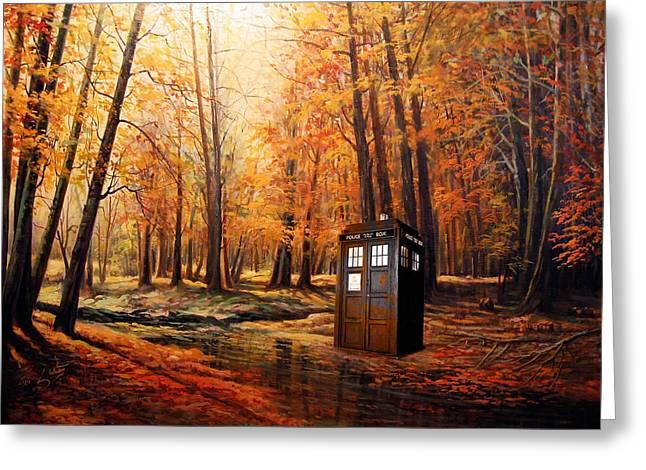 Tardis Doctor Who  Greeting Card