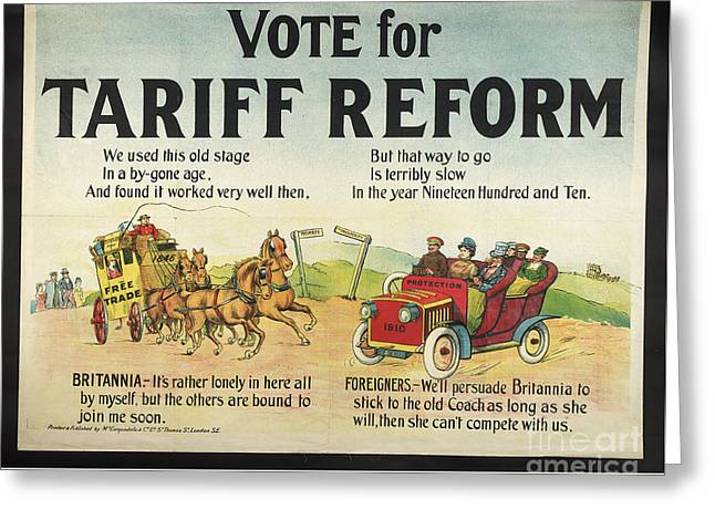 Tariff Reform Greeting Card by Frederick Holiday