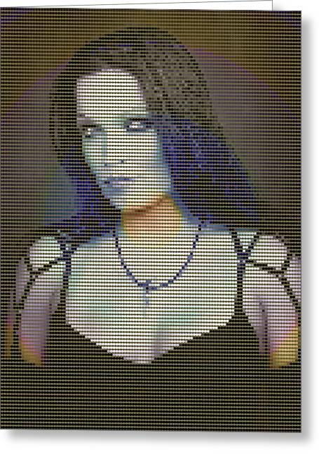 Greeting Card featuring the digital art Tarja 16 by Marko Sabotin