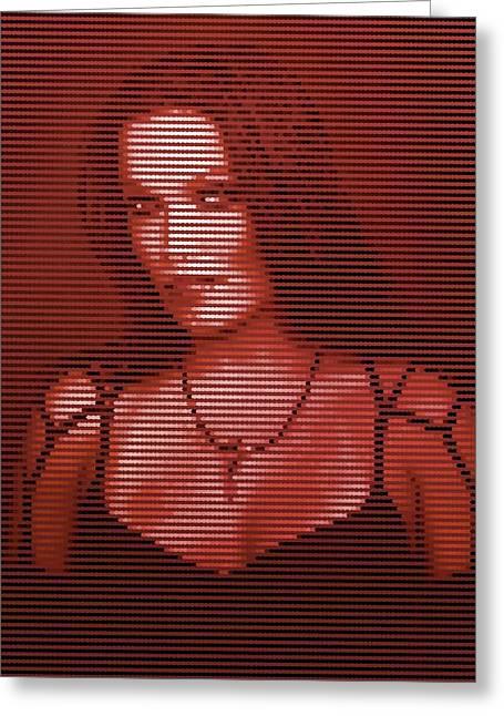 Greeting Card featuring the digital art Tarja 20 by Marko Sabotin