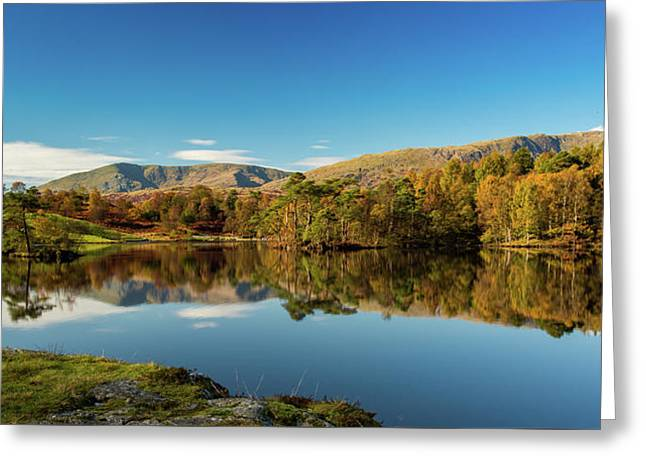 Tarn Hows Greeting Card by Mike Taylor