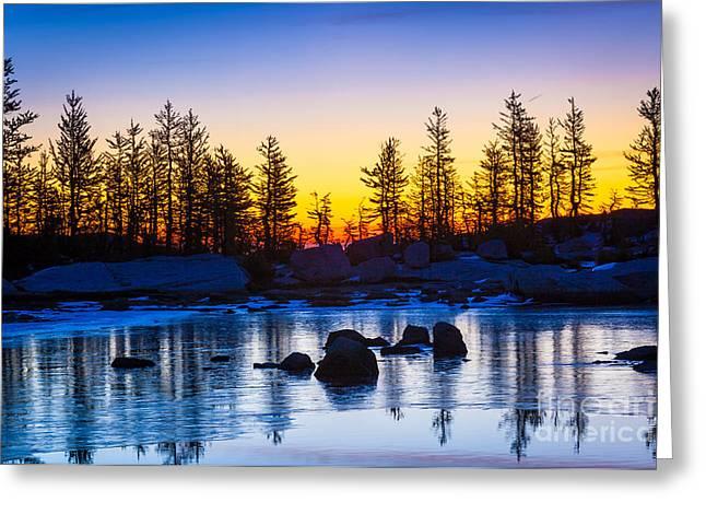Tarn Ice Greeting Card by Inge Johnsson