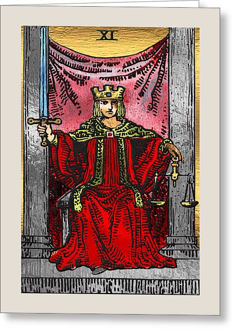 Tarot Gold Edition - Major Arcana - Justice Greeting Card