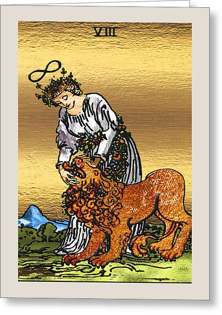 Tarot Gold Edition - Major Arcana - Strengthtarot Gold Edition - Major Arcana - Strength Greeting Card