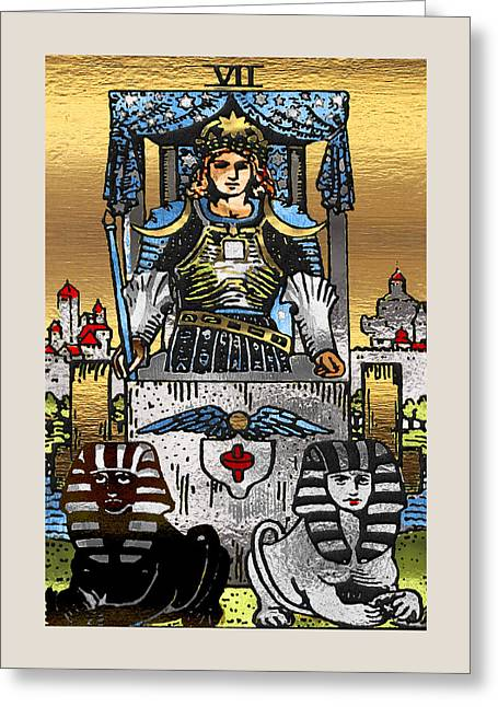 Tarot Gold Edition - Major Arcana - The Chariot Greeting Card
