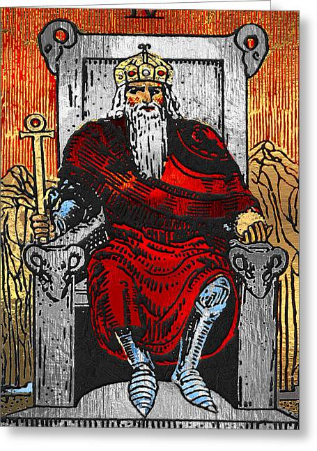 Tarot Gold Edition - Major Arcana - The Emperor Greeting Card