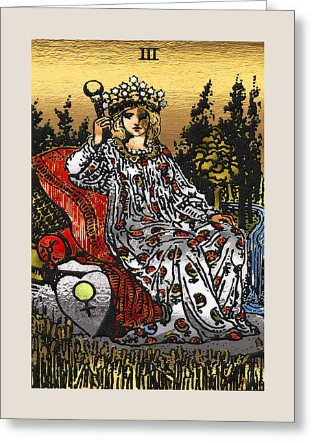 Tarot Gold Edition - Major Arcana - The Empress Greeting Card