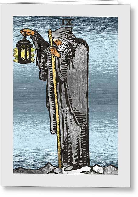 Tarot Gold Edition - Major Arcana - The Hermit Greeting Card